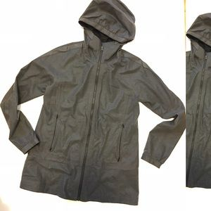 Lululemon Charcoal Sean Sealed Rain Coat sz4